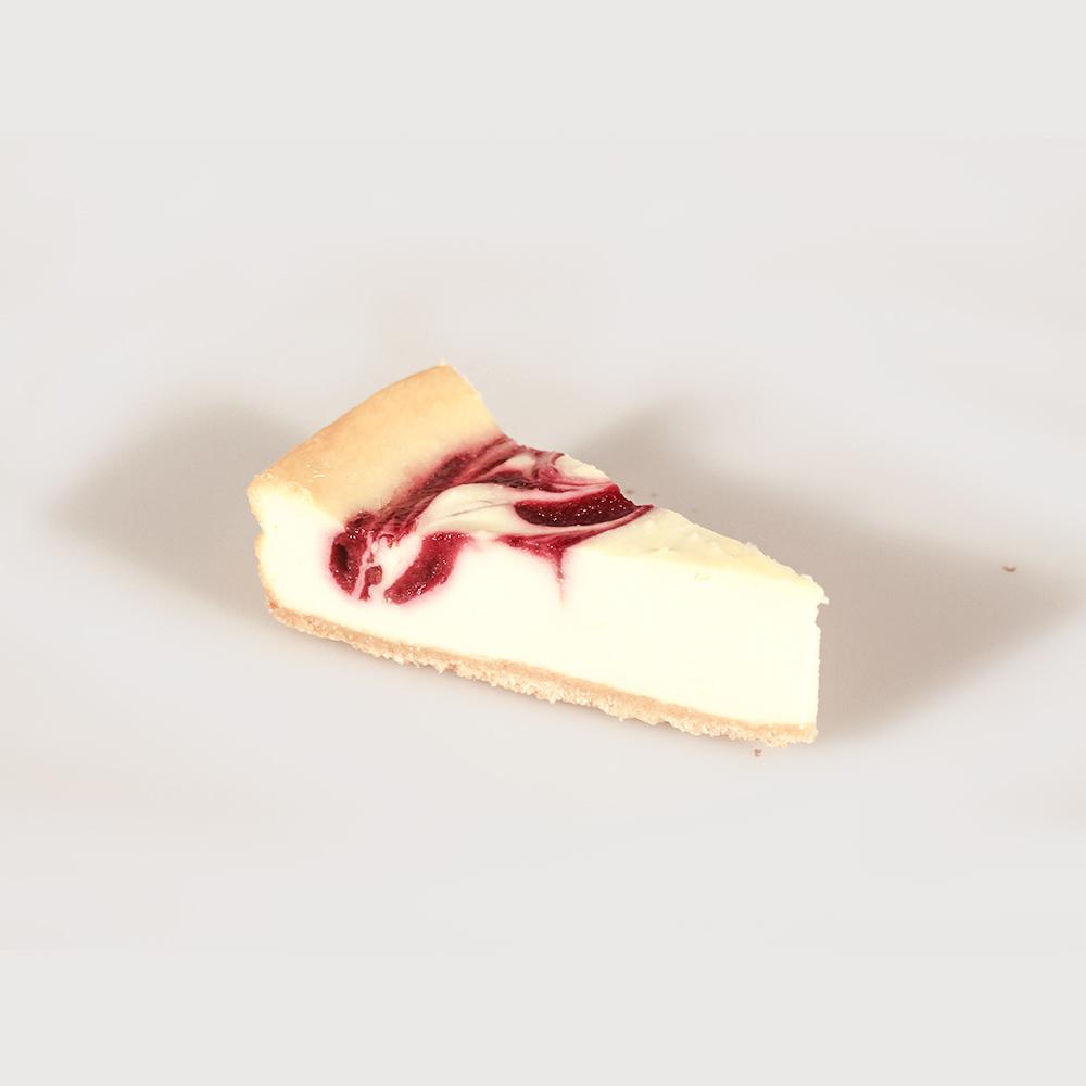 Tarta de queso con frambuesa