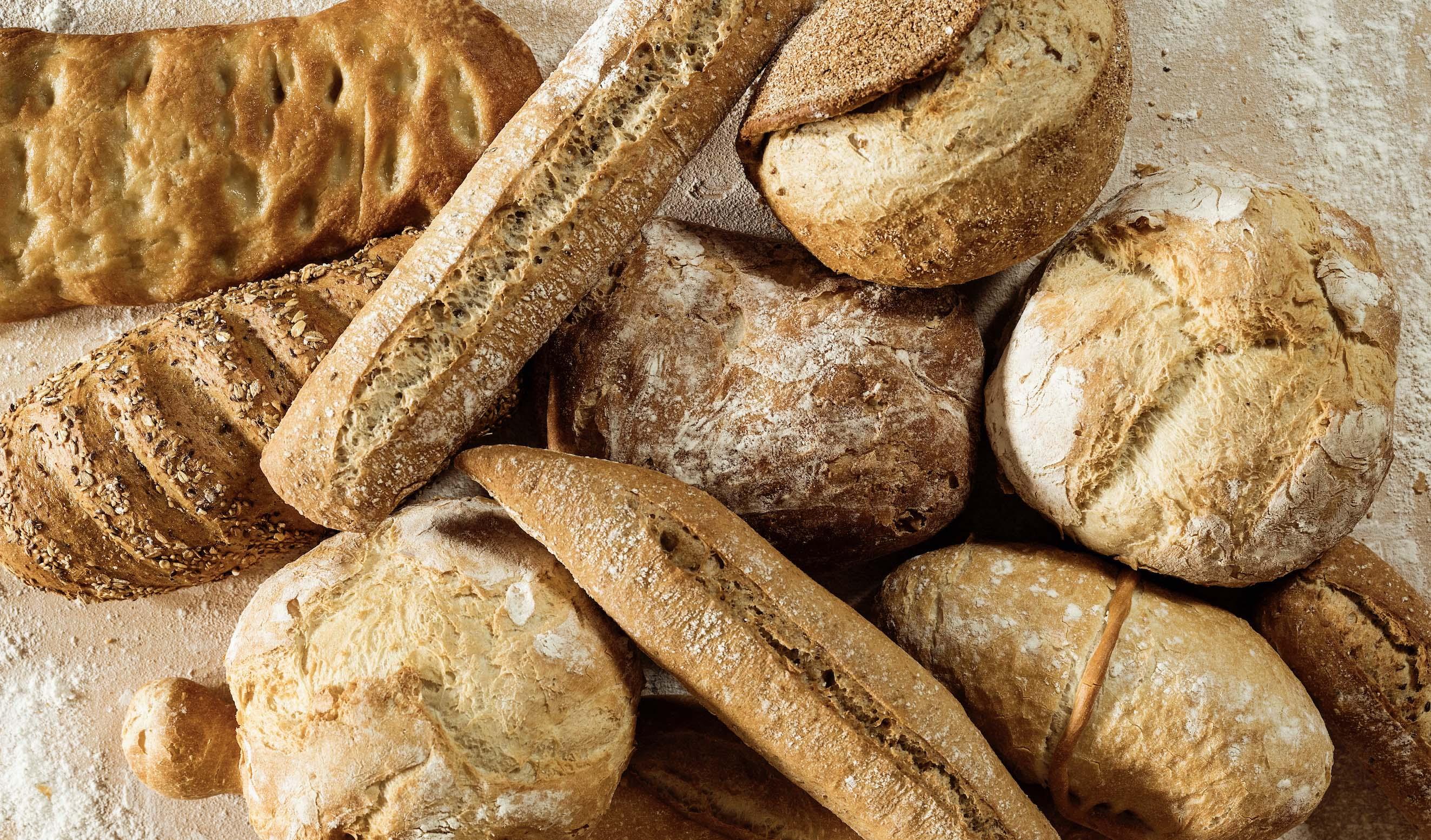 Panes elabroados con harinas integrales y refinadas