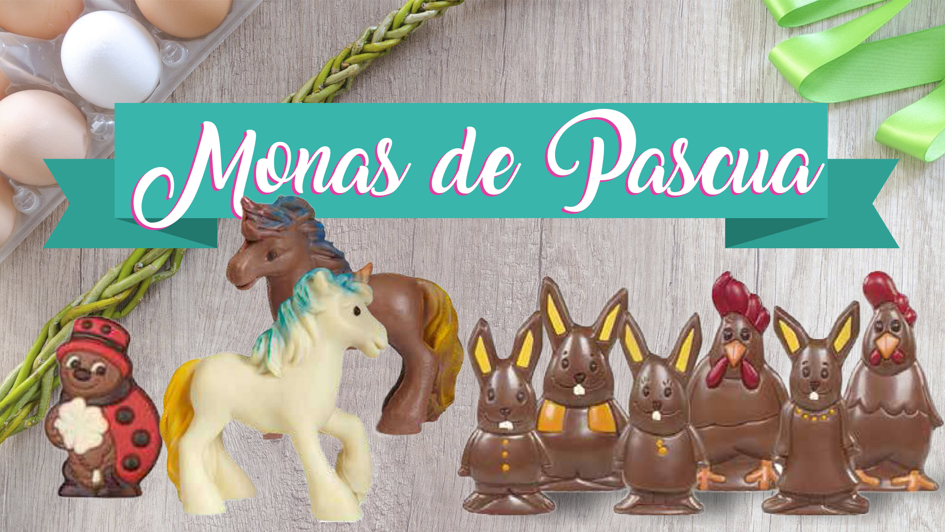 Mona de chocolate para el Domingo de Ramos