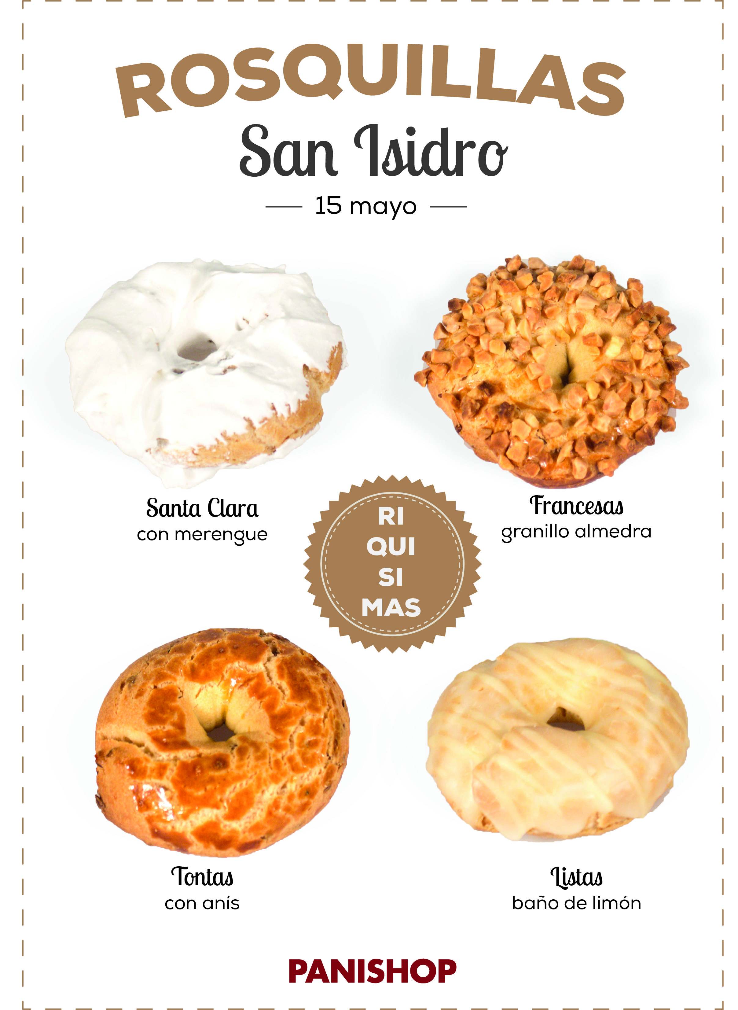Rosquillas de San Isidro como marca la tradición